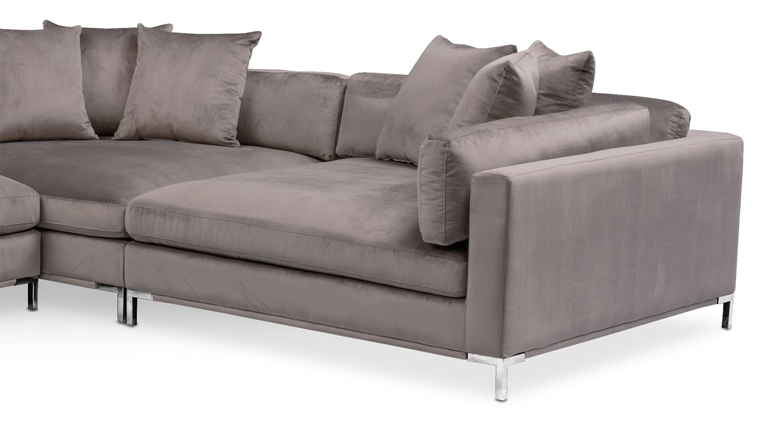 Moda 3-Piece Sectional With Left-Facing Chaise - Oyster | American for Nico Grey Sectionals With Left Facing Storage Chaise