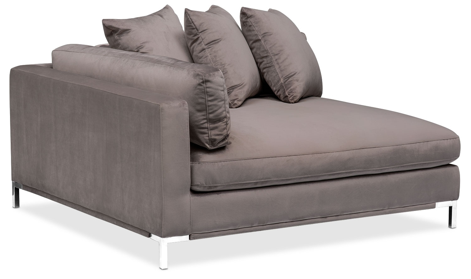 Moda 3 Piece Sectional With Left Facing Chaise – Oyster | American With Nico Grey Sectionals With Left Facing Storage Chaise (View 20 of 25)