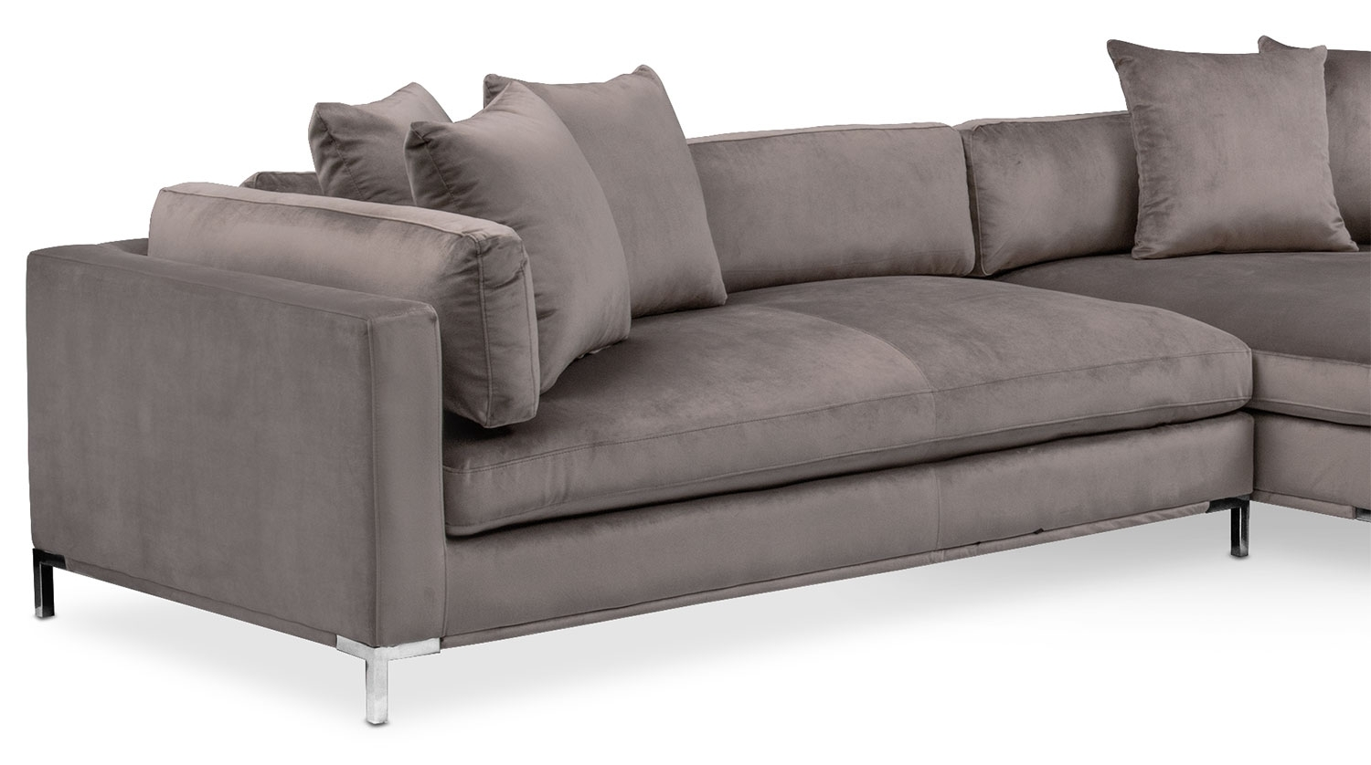 Moda 3 Piece Sectional With Left Facing Chaise – Oyster | American With Regard To Nico Grey Sectionals With Left Facing Storage Chaise (Image 16 of 25)