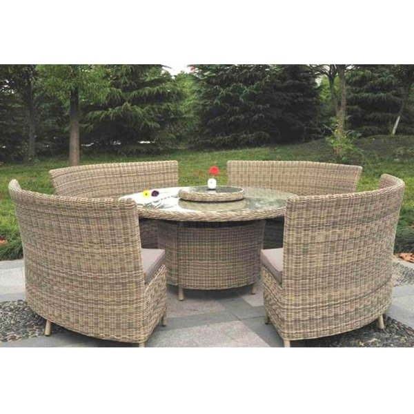 Modena 8 / 12 Person With Lazy Susan Rattan Garden Dining Set In Garden Dining Tables (View 24 of 25)