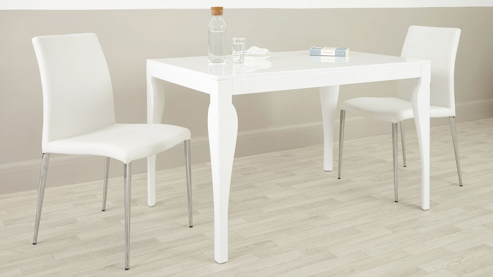 Modern 4 Seater Dining Table | White Gloss | Uk Delivery With Regard To Small 4 Seater Dining Tables (Image 16 of 25)