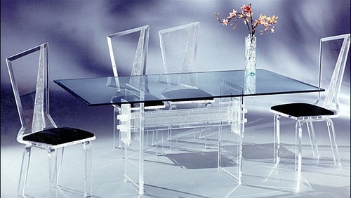 Modern Acrylic Dining Table Set – Olwin Acrylic Furniture, Surat With Acrylic Dining Tables (Image 18 of 25)