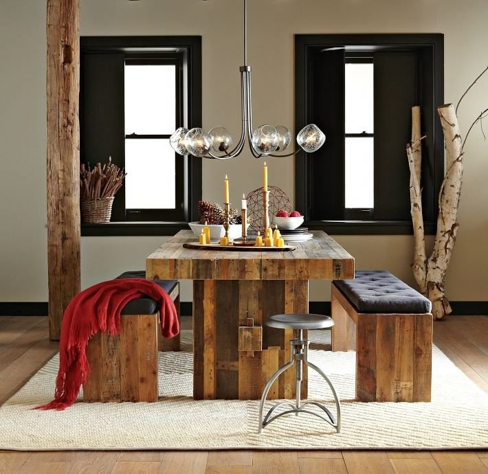Modern Bench Style Dining Table Set Ideas   Homesfeed Regarding Dining Tables And 2 Benches (Image 23 of 25)