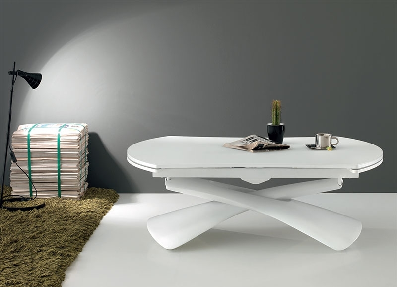 Modern Compar Convertible Paris Dining Table Or Coffee Table Within Paris Dining Tables (Image 12 of 25)