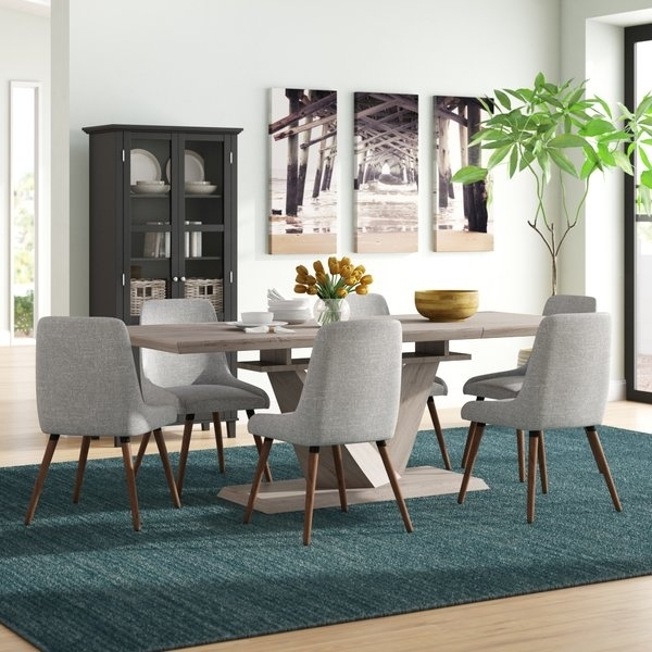 Modern & Contemporary Butterfly Extension Table | Allmodern With Delfina 7 Piece Dining Sets (Image 19 of 25)