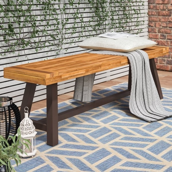 Modern & Contemporary Outdoor Picnic Table And Bench | Allmodern In Jaxon 6 Piece Rectangle Dining Sets With Bench & Uph Chairs (View 13 of 25)