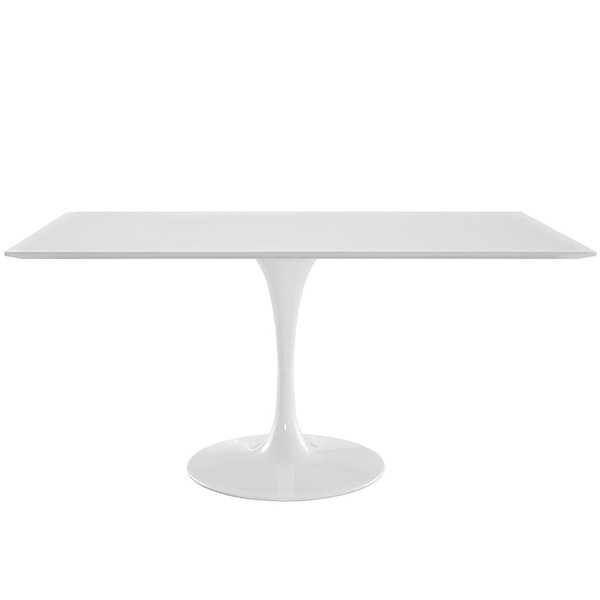 Modern & Contemporary Rectangle 60 Inch Dining Table   Allmodern In Ina Pewter 60 Inch Counter Tables With Frosted Glass (Image 18 of 25)