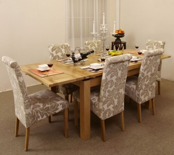 Modern Country' Dining Roomsjen Stanbrook | The Oak Furniture Inside Oak Dining Tables And Fabric Chairs (Image 14 of 25)