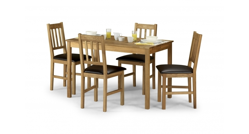 Modern Decoration Dining Table With Four Chairs Coxmoor Rectangle Inside Scs Dining Tables (Image 11 of 25)
