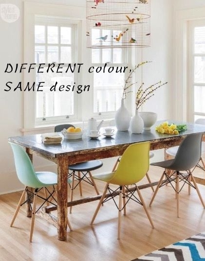 Modern Different Colour Dining Room Chairs How To Mix Interior Inside Colourful Dining Tables And Chairs (Image 19 of 25)