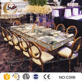 Modern Dining Furniture Mirror Glass Top Hotel Tables – Buy Modern In Mirror Glass Dining Tables (View 14 of 25)