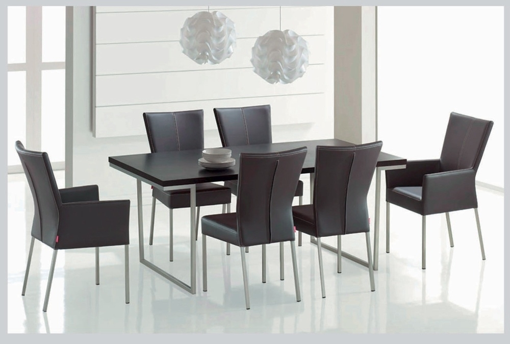 Modern Dining Room Furniture Dands Glass Dining Sets 6 Chairs With Regarding Contemporary Dining Room Chairs (Image 23 of 25)
