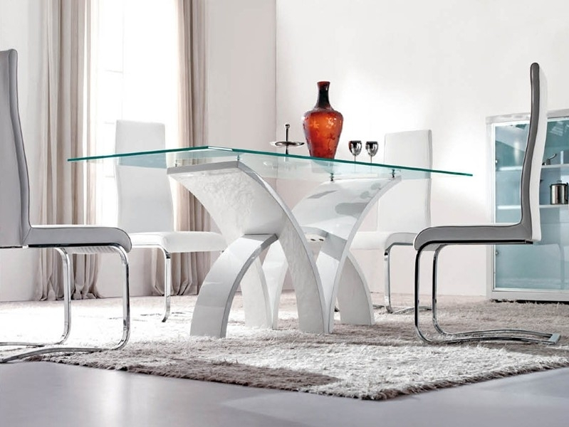 Modern Dining Room Furniture, Glass Dining Tables, Bar Tables And With Modern Dining Table And Chairs (View 23 of 25)