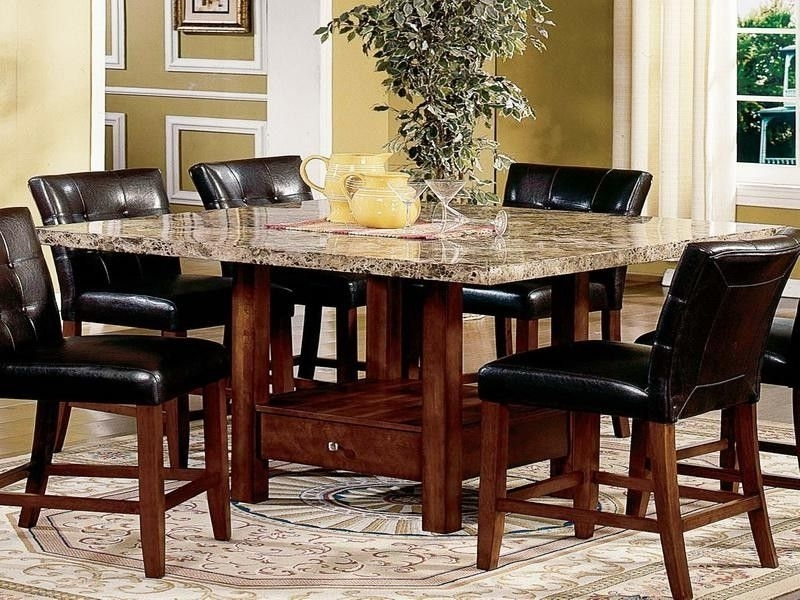 Modern Dining Room Sets Granite Top Dining Table Storage Dining Throughout Dining Tables Sets (Image 22 of 25)