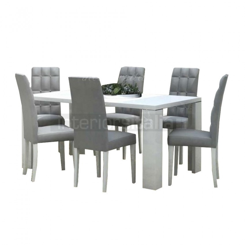 Modern Dining Set | 0% Interest Free Finance Available Throughout White Gloss Dining Chairs (Image 18 of 25)