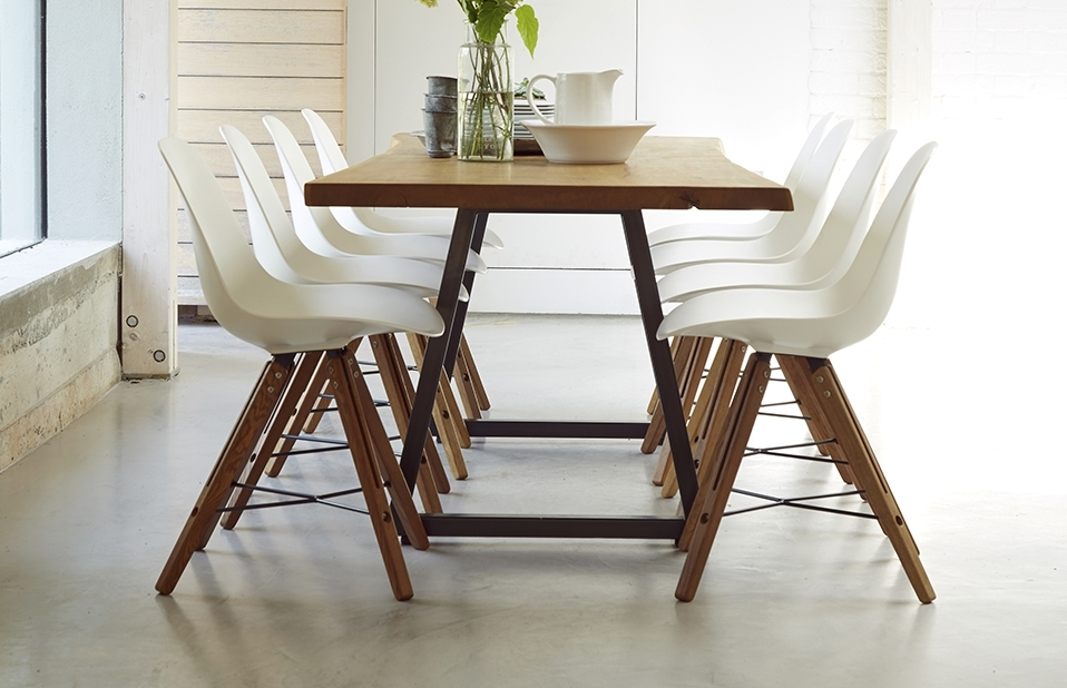 Modern Dining Set – 8 Seats – Home Furniture – Out & Out Original Intended For Oak Dining Tables And 8 Chairs (View 4 of 25)