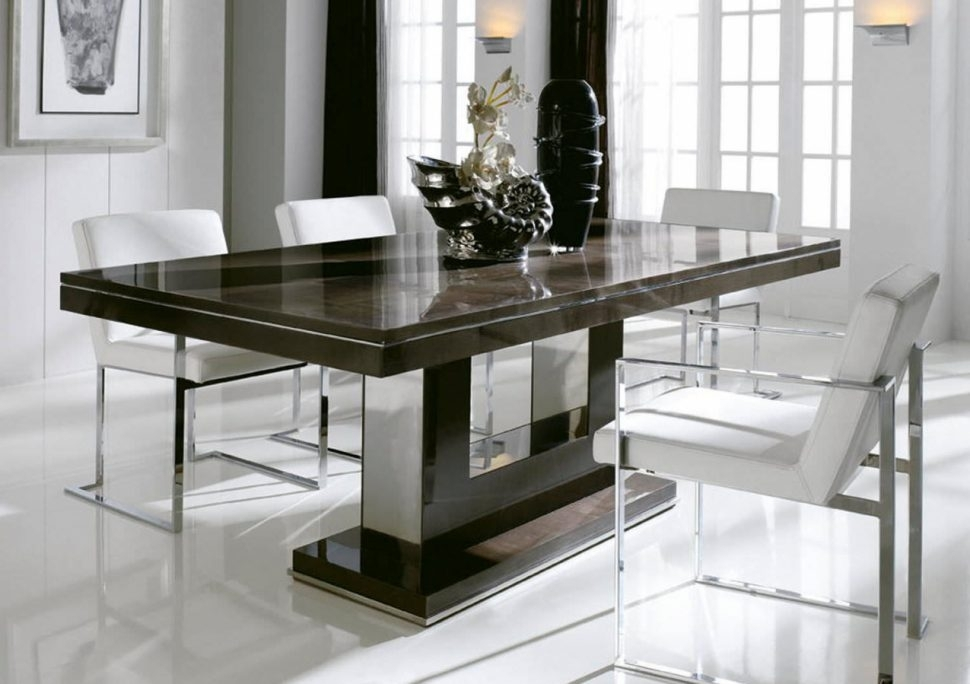 Modern Dining Table Designs Rectangular Tables Room Sets For Small Intended For Rectangular Dining Tables Sets (Image 19 of 25)