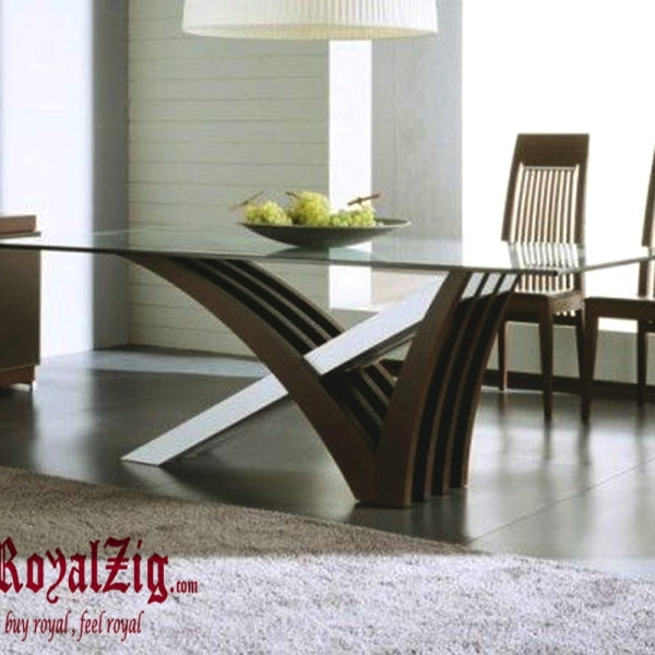 Modern Dining Table I Contemporary Wooden 4 Seater Dining Table I Regarding Contemporary Dining Furniture (Image 20 of 25)