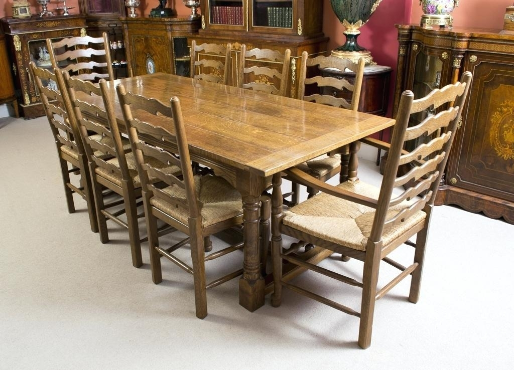 Modern Dining Table With 8 Chairs Fabulous Oak Dining Table And 8 Within Oak Dining Tables 8 Chairs (View 4 of 25)