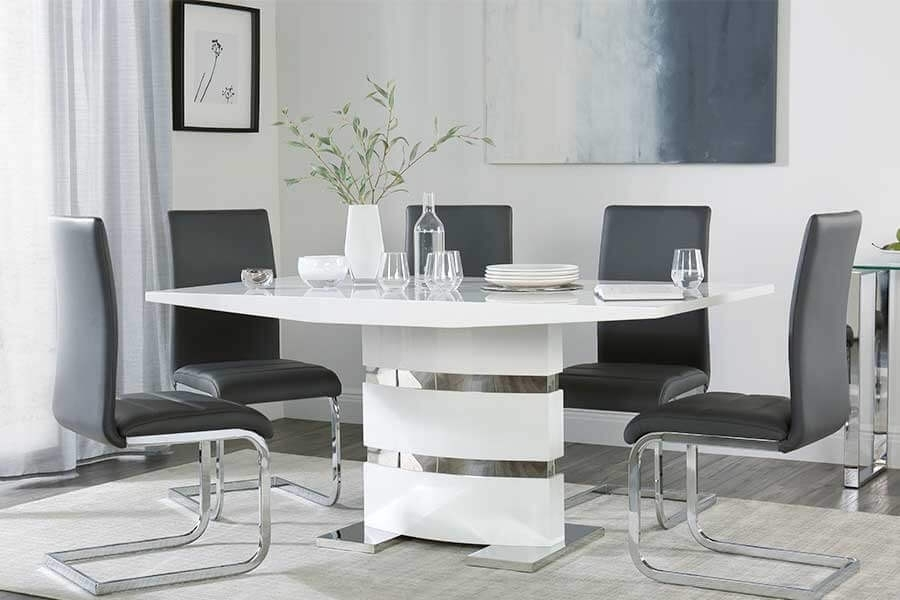 Modern Dining Tables & Chairs – Modern Dining Sets | Furniture Choice Pertaining To Modern Dining Tables And Chairs (Image 18 of 25)