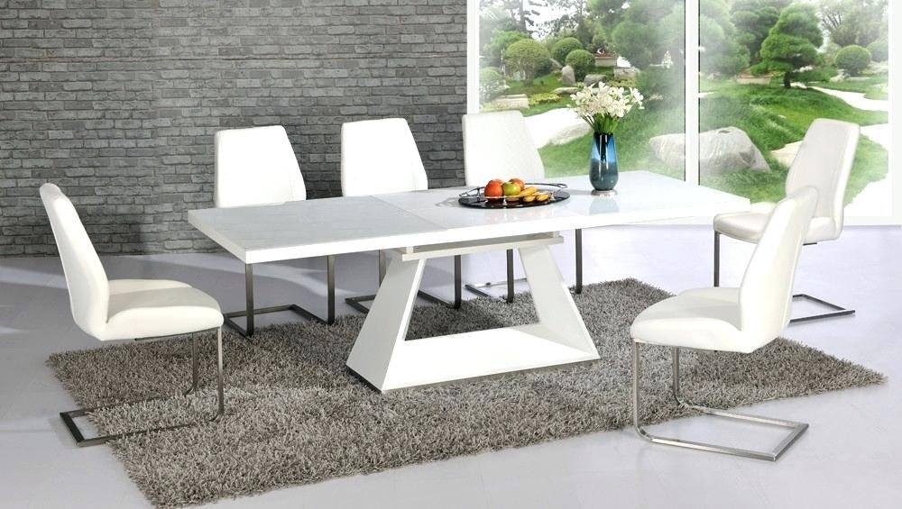 Modern Extendable Table Dining Room Extendable Tables Modern Round Intended For White Gloss Round Extending Dining Tables (View 20 of 25)
