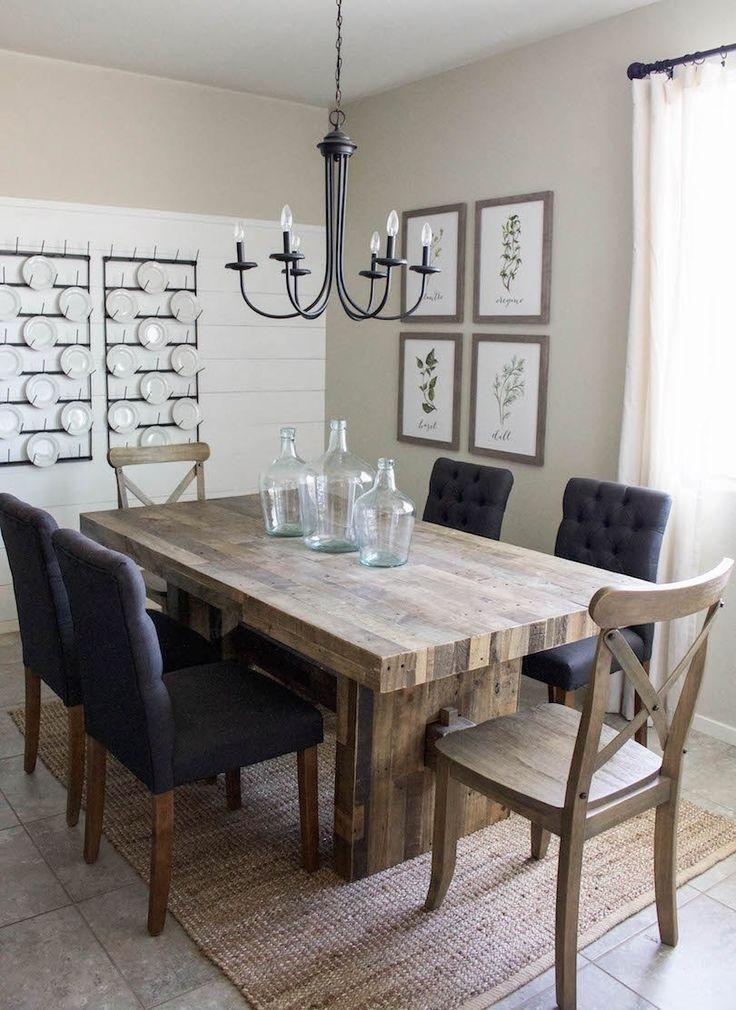 Modern Farmhouse Dining Room & Diy Shiplap | Home Sweet Home In 2018 Regarding Modern Dining Room Sets (Image 23 of 25)