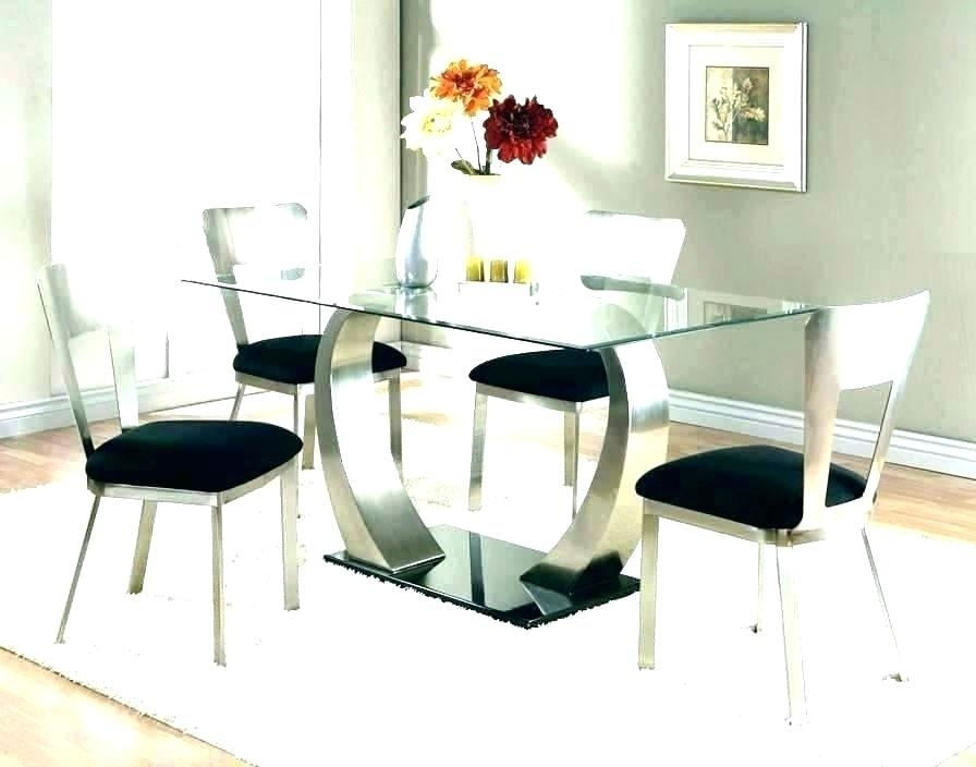 Modern Glass Dining Table Set – Jasonstevens In Glass Dining Tables Sets (View 18 of 25)