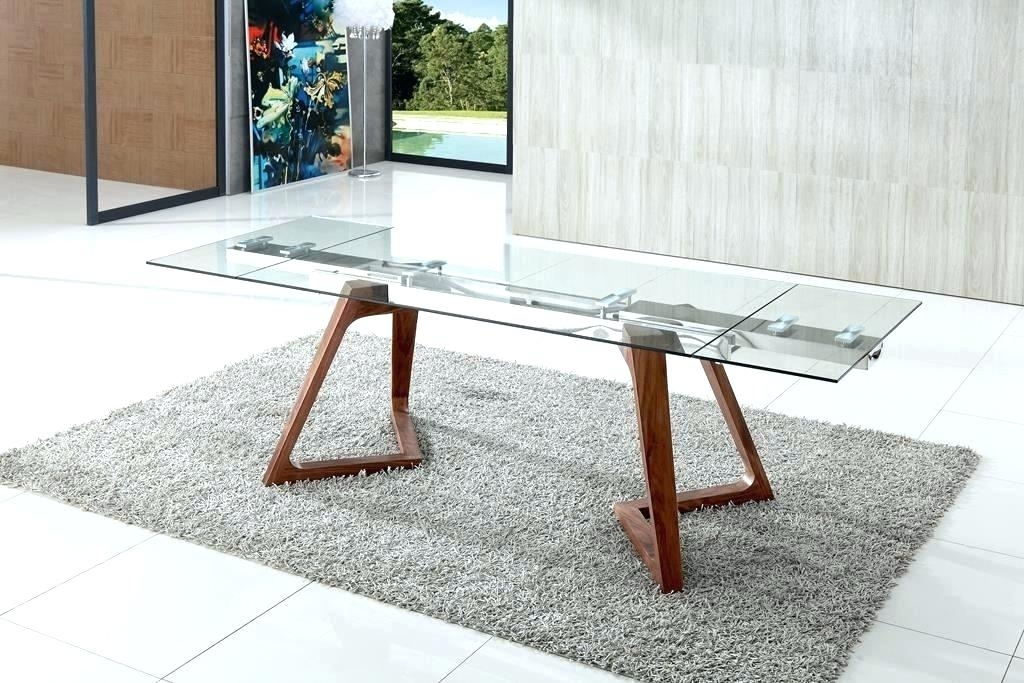 Modern Glass Dining Table Set Modern Glass Dining Table Modern Glass In Glass Folding Dining Tables (View 21 of 25)