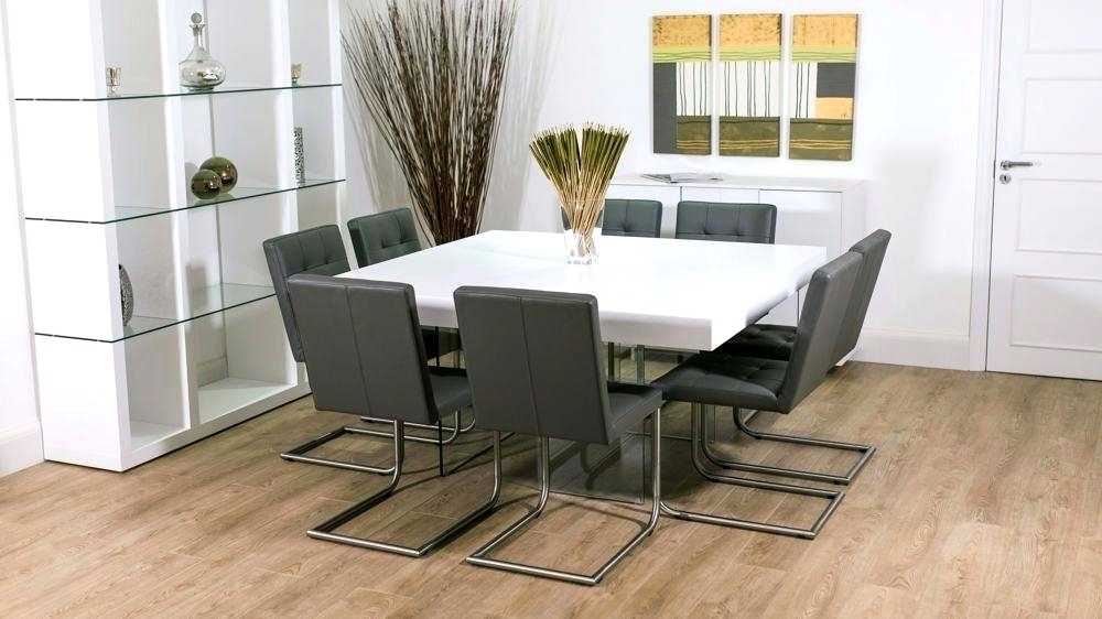 Modern Grey And White Extending Dining Table 8 Seater Uk Grey And Pertaining To White 8 Seater Dining Tables (Image 19 of 25)