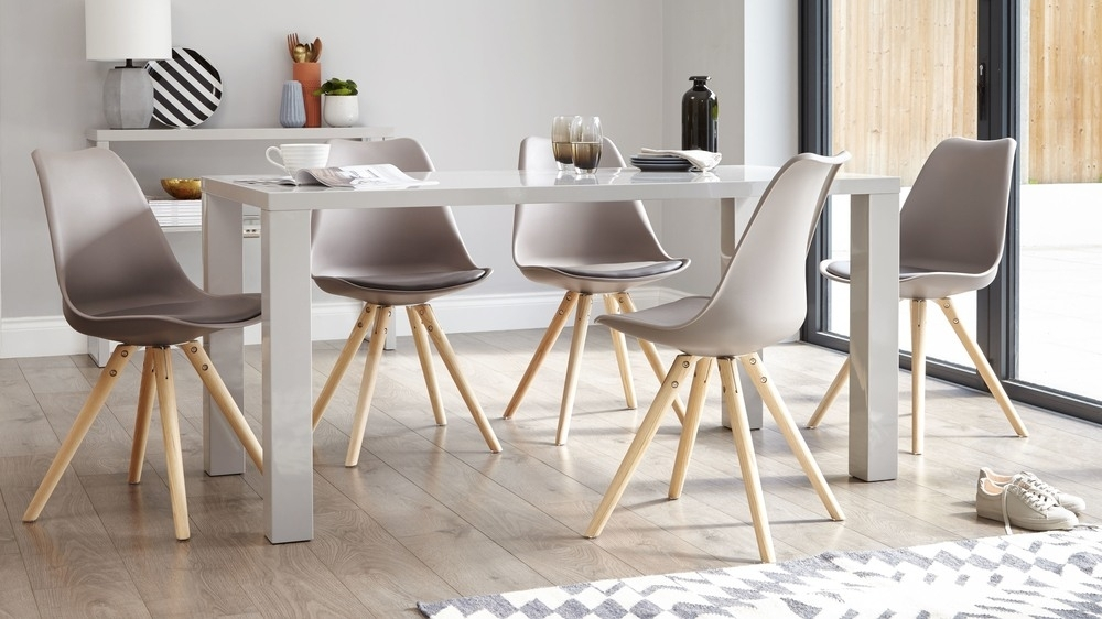 Modern Grey Gloss Dining Table | 6 Seater Dining Table | Uk For Gloss Dining Set (Image 18 of 25)