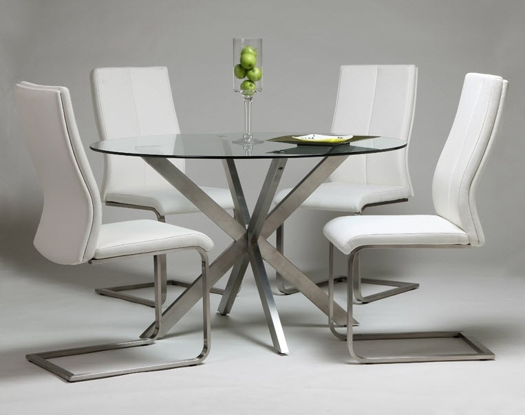 Modern Home And Office Furniture Store Eritea Dining Table With Within Glass And Stainless Steel Dining Tables (Image 17 of 25)