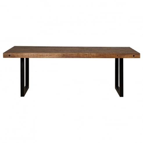Modern, Industrial New York Fixed Top Dining Table With Metal Legs Inside New York Dining Tables (View 11 of 25)