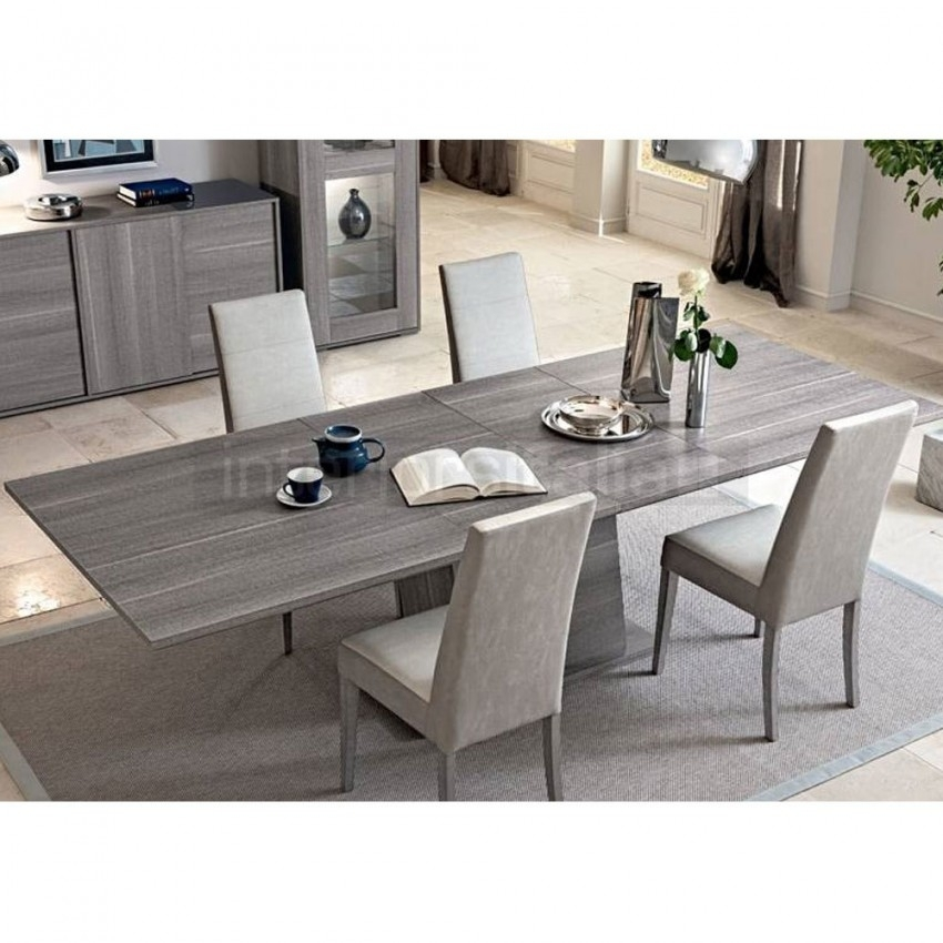 Modern Italian Dining Set   Futura Grey   Sale Intended For Grey Dining Tables (Image 19 of 25)