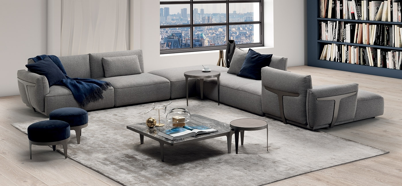 Modern Luxury Sofas | Natuzzi Italia For London Optical Reversible Sofa Chaise Sectionals (Image 15 of 25)