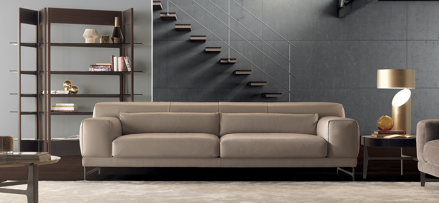 Modern Luxury Sofas | Natuzzi Italia Regarding London Optical Reversible Sofa Chaise Sectionals (View 25 of 25)