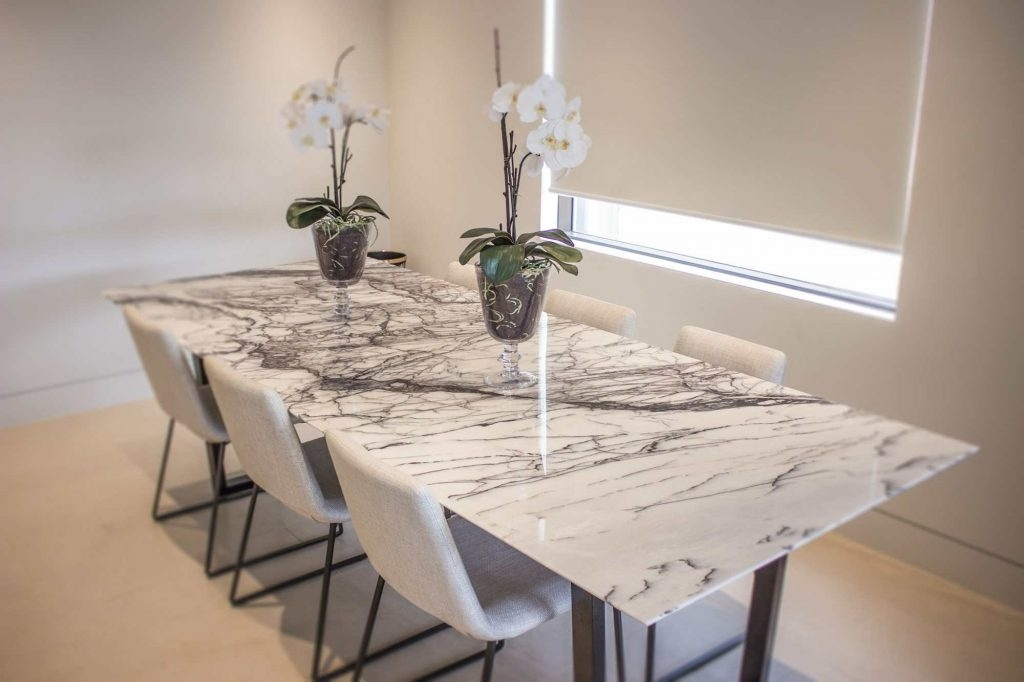 Modern & Natural Stone Dining Table Design And Images Pertaining To Stone Dining Tables (View 7 of 25)