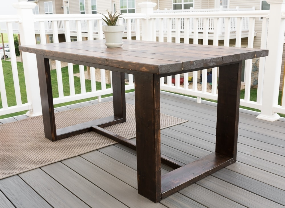 Modern Outdoor Dining Table |Brittany Goldwyn | Live Creatively For Brittany Dining Tables (Image 23 of 25)