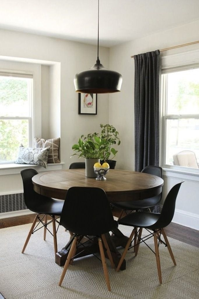 Modern Round Dining Table Extendable | Neubertweb | Home Design Regarding Lassen 5 Piece Round Dining Sets (View 3 of 25)
