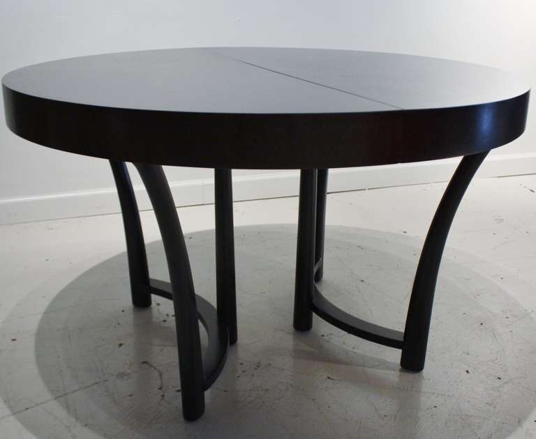 Modern Round Extending Dining Table Buy In Black Extendable Pertaining To Black Extending Dining Tables (Image 21 of 25)