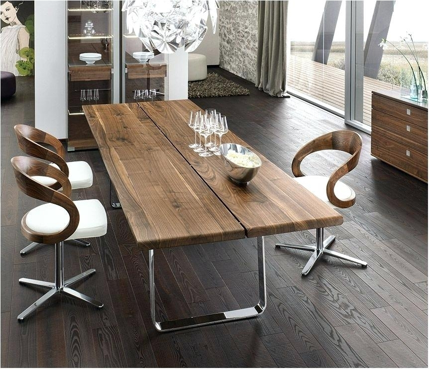 Modern Solid Wood Dining Table Modern Dining Table Chair Dining Room With Regard To Contemporary Dining Furniture (Image 22 of 25)