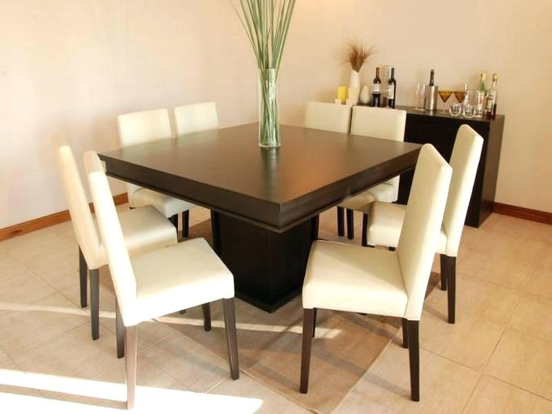 Modern Square Dining Table Sofa Glamorous Modern Square Dining Regarding Dark Wood Square Dining Tables (Image 19 of 25)