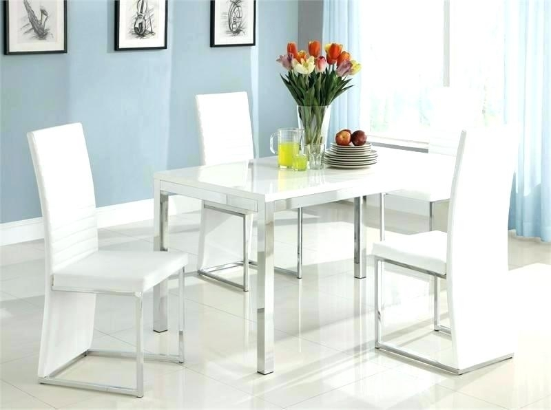 Modern White Dining Chair White Dining Chairs With Arms Modern Pertaining To White Leather Dining Room Chairs (View 25 of 25)