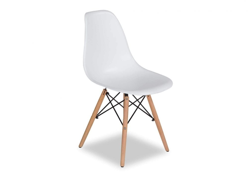 Modern White Dining Shell Chair – Kuga – Ez Living Furniture For White Dining Chairs (Image 17 of 25)