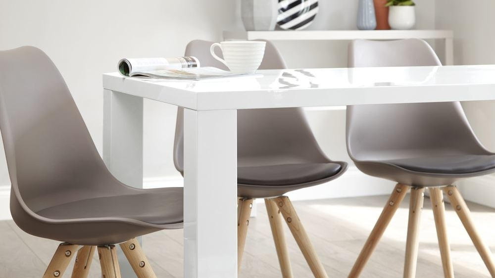 Modern White Gloss Dining Table | 6 Seater Table | Uk For 6 Seat Dining Tables And Chairs (Image 22 of 25)