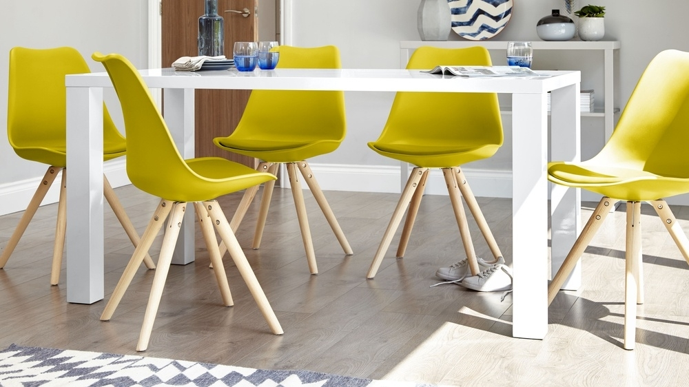 Modern White Gloss Dining Table | 6 Seater Table | Uk Pertaining To White Gloss Dining Tables And 6 Chairs (View 18 of 25)