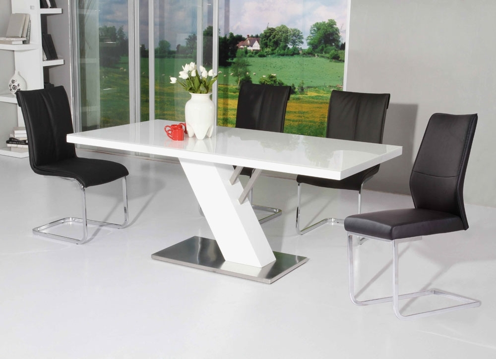 Modern White Lacquer Dining Table | Modern Dining Pertaining To Modern Dining Tables (Image 21 of 25)
