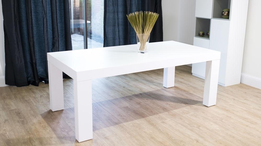 Modern White Oak Dining Table | Chunky Oak Dining Table Inside Cheap Oak Dining Tables (Image 14 of 25)