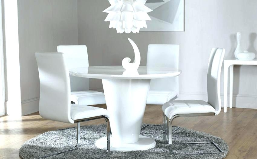Modern White Round Dining Table – Quadcapture (Image 8 of 25)