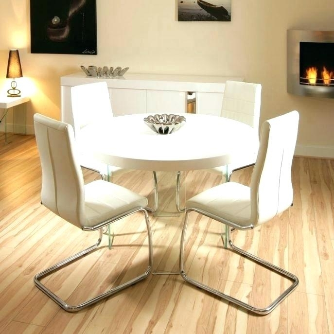 Modern White Round Dining Table Small Round White Dining Table Inside Small Round White Dining Tables (View 5 of 25)