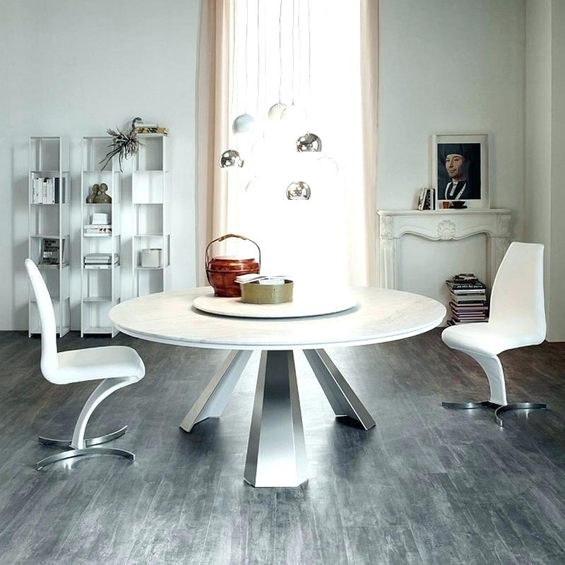 Modern White Round Dining Table White Extendable Round Dining Table Regarding White Circle Dining Tables (Image 12 of 25)